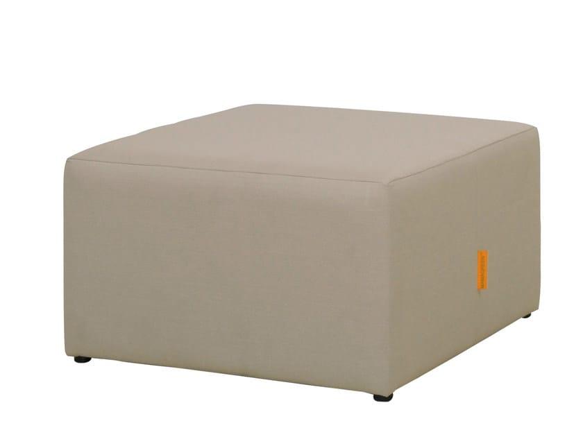 Upholstered fabric garden pouf MONO | Garden pouf - MAMAGREEN