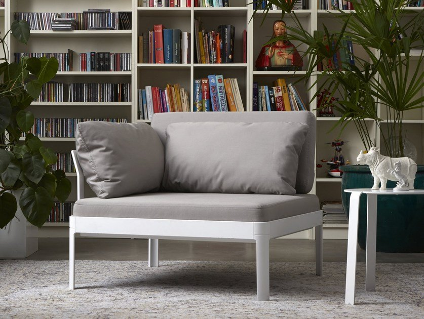 Corner armchair with armrests PLANE FOR OUT | Corner armchair - iCarraro italian makers