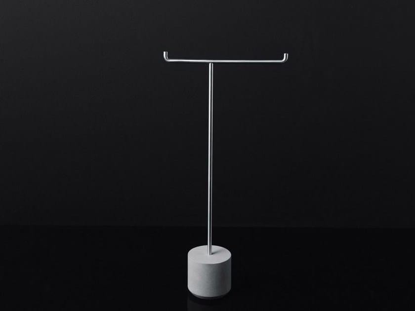 Stainless steel toilet roll holder / towel rack IKO by Boffi