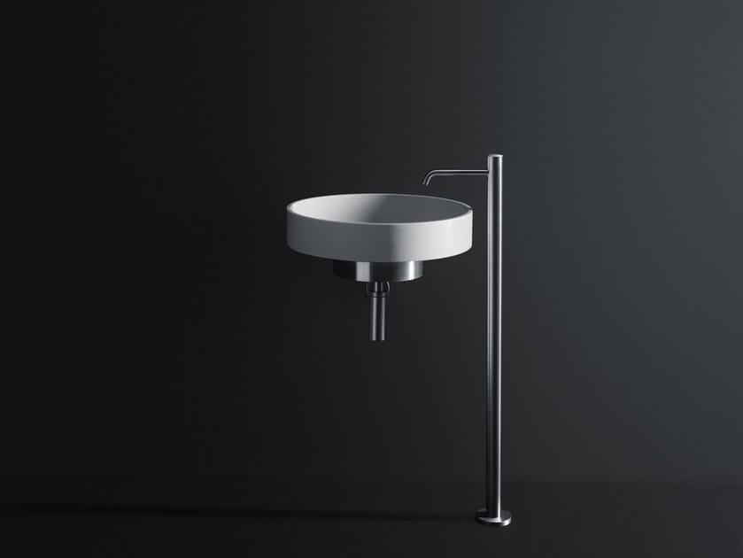 Round Cristalplant® washbasin LOTUS | Wall-mounted washbasin - Boffi