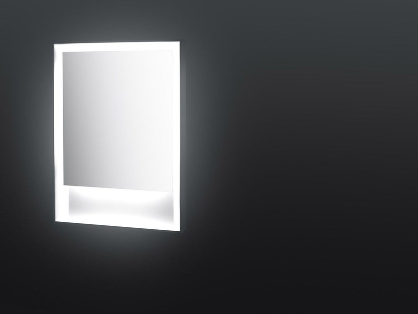Rectangular framed mirror with integrated lighting SP14 | Rectangular mirror - Boffi