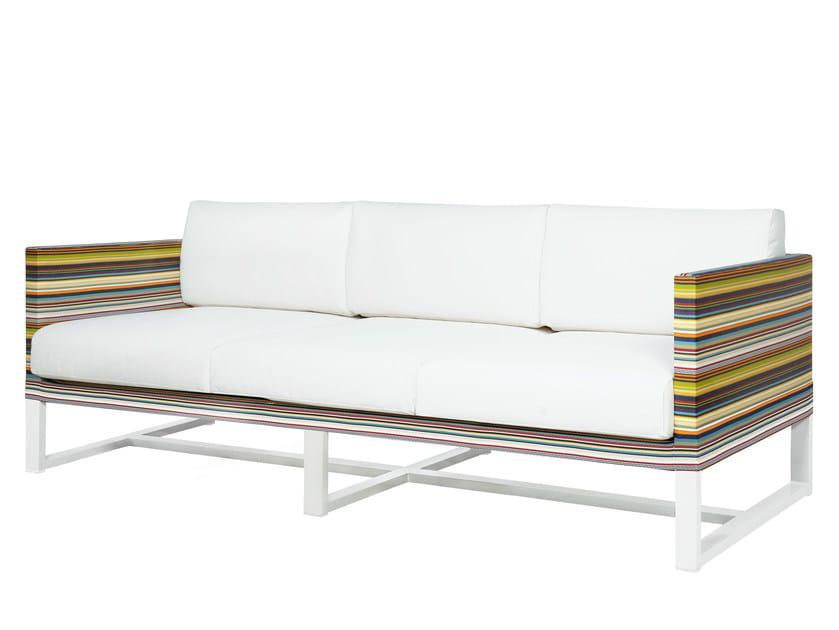 3 seater Sunbrella® garden sofa STRIPE | 3 seater sofa - MAMAGREEN