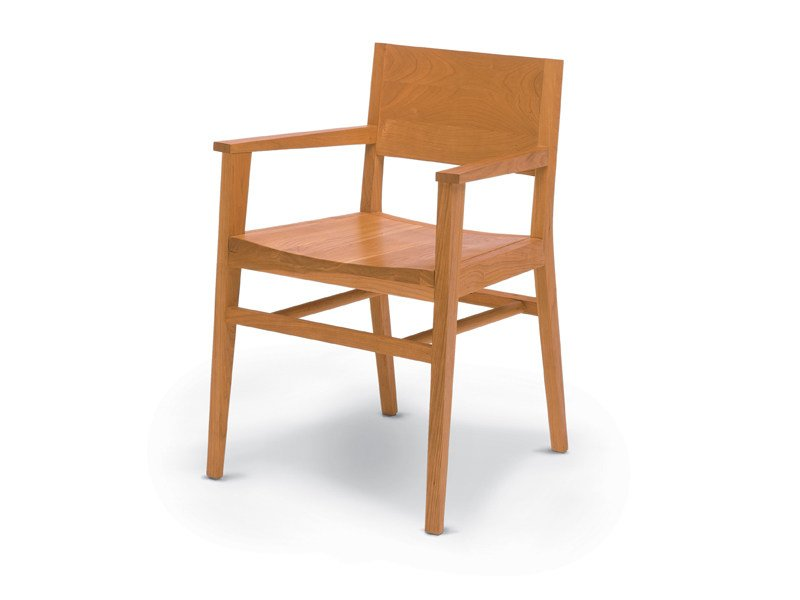 Wooden chair with armrests TENNESSE - Riva 1920