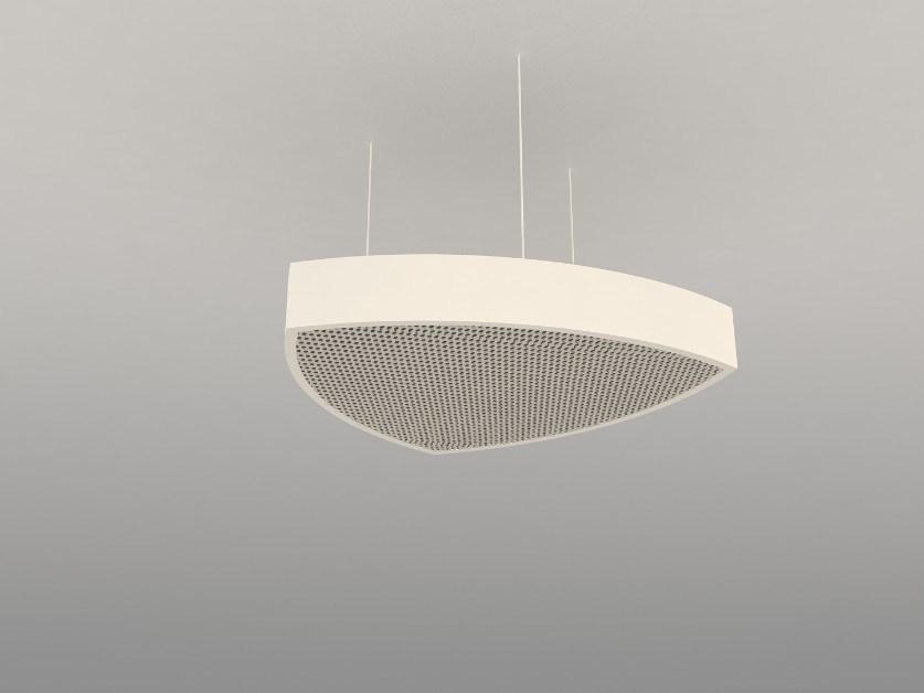 Hanging acoustical panel / pendant lamp NCA T600-900-1200R | Pendant lamp by Neonny