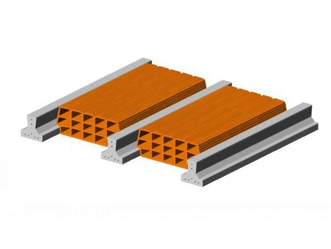 Hollow clay floor slab block Floor slab 13 14 - Single beam - FORNACI SCANU