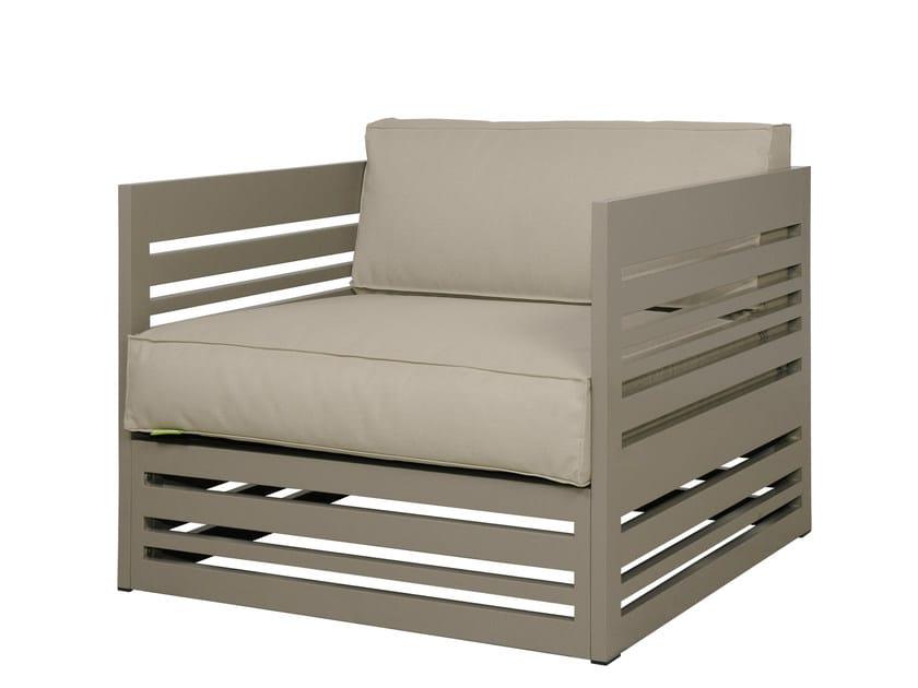 Upholstered garden armchair with armrests YUYUP | Garden armchair - MAMAGREEN