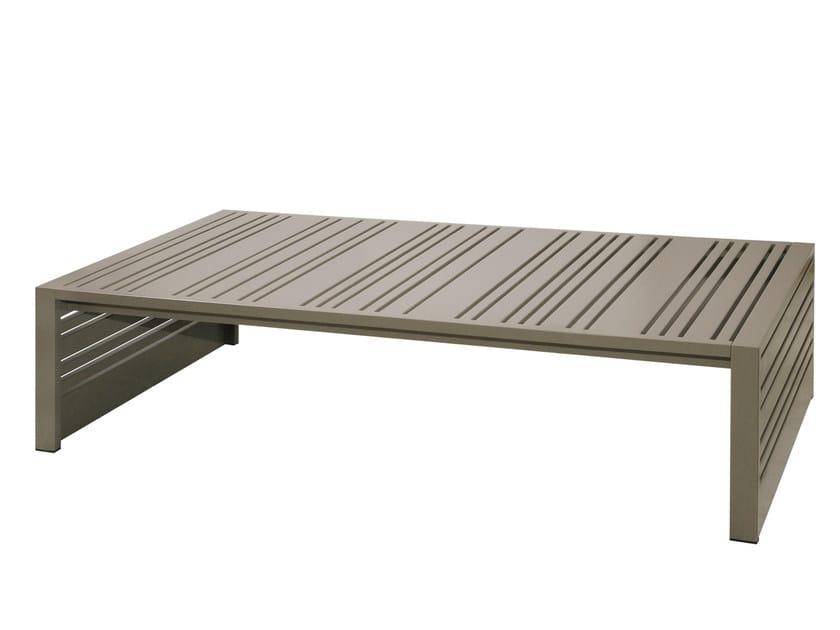 Rectangular aluminium garden side table YUYUP | Rectangular coffee table - MAMAGREEN