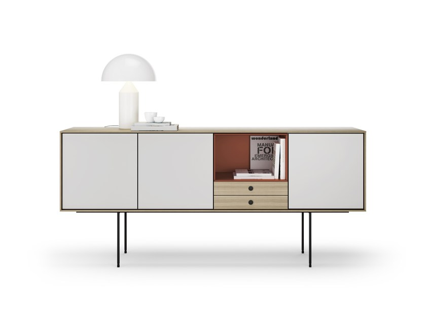 Lacquered wooden sideboard AURA | Sideboard by TREKU