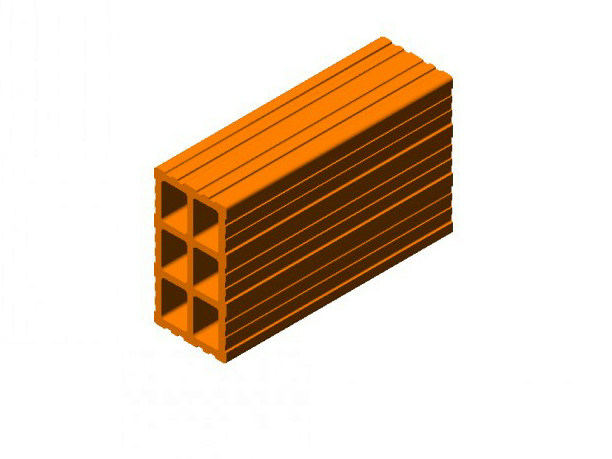 Clay block for internal partition Clay block 8 (8x15x25) - FORNACI SCANU