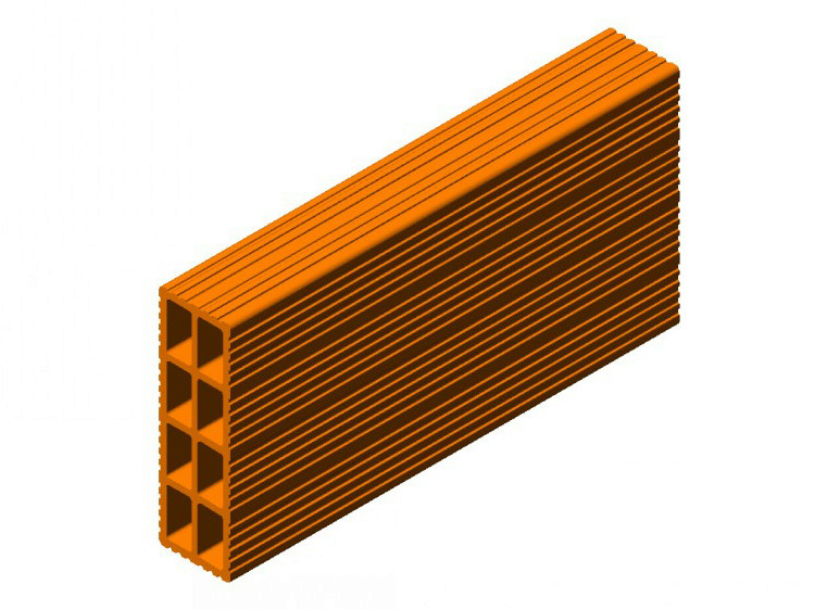 Clay block for internal partition Clay block 8 (8x25x50) - FORNACI SCANU