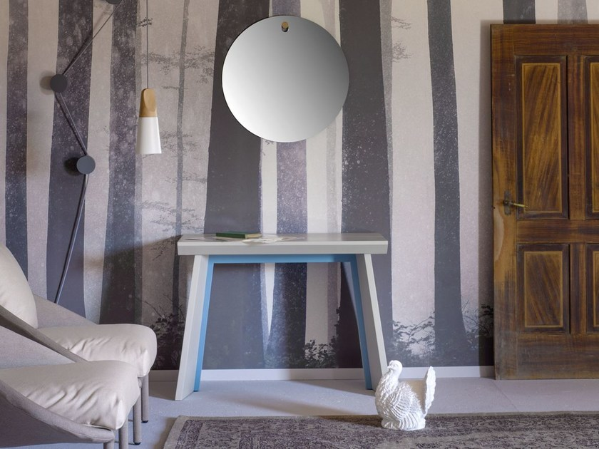 Table console extensible laqu e venusia by miniforms - Table laquee extensible ...