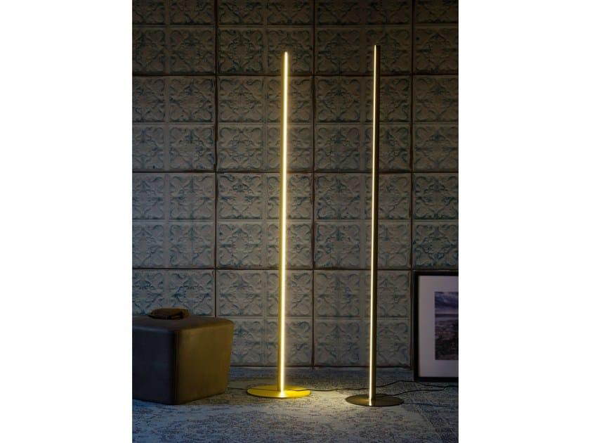LED metal floor lamp RIGA - Miniforms