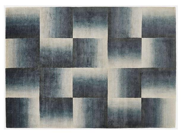 Rectangular rug with geometric shapes SHADOWS - Deirdre Dyson
