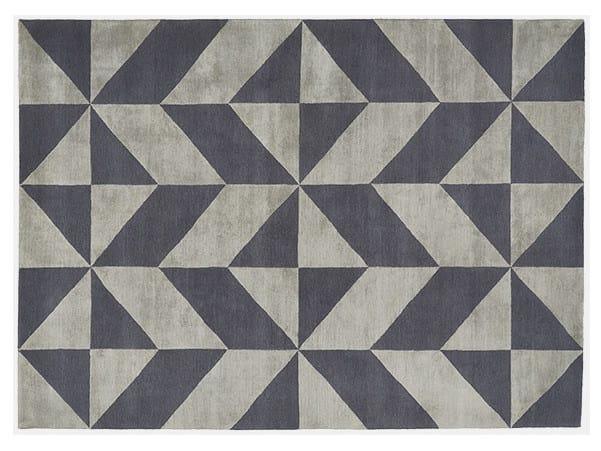 Rectangular rug with optical pattern OPTIC - Deirdre Dyson