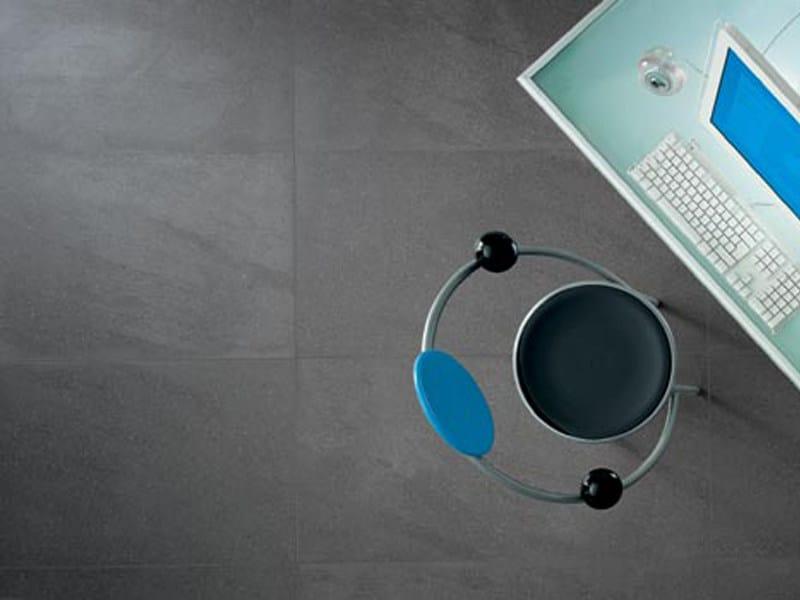 Indoor/outdoor porcelain stoneware wall/floor tiles with stone effect PIETRA BASALTINA - GranitiFiandre