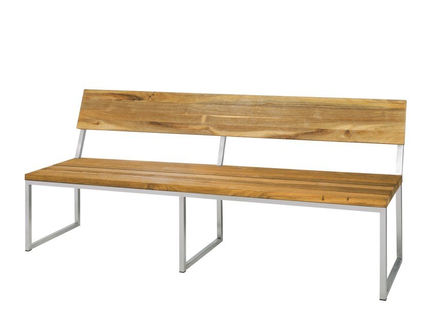 Garden bench with back OKO | Bench with back 185 cm - MAMAGREEN