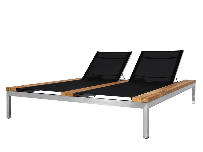 Stainless steel and wood garden daybed OKO | Garden daybed - MAMAGREEN