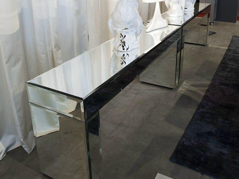 Consolle rettangolare in vetro a specchio aphrodite by for Consolle in vetro per ingresso