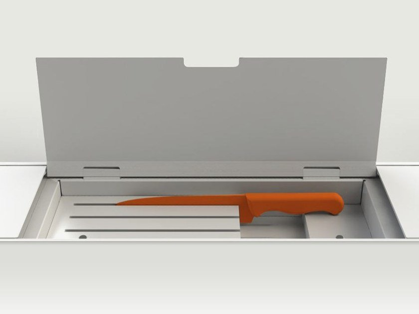 Accessories for equipped tracks EASYRACK KITCHEN FLAT | Knives holder - DOMUSOMNIA