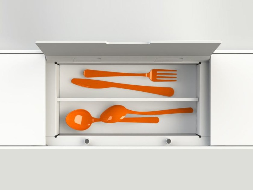 Kitchen equipped track EASYRACK KITCHEN FLAT | Cutlery tray - DOMUSOMNIA