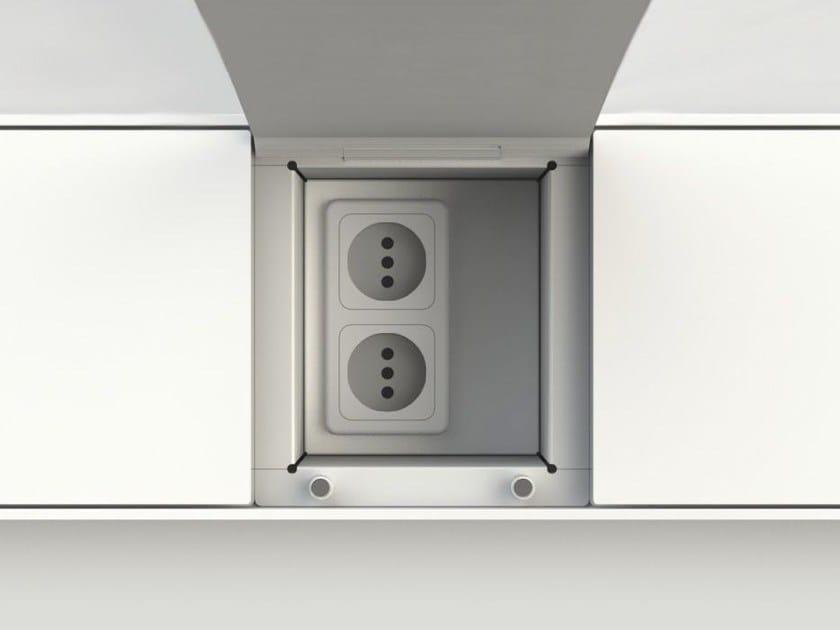 Kitchen equipped track EASYRACK KITCHEN STEP | Eletrical socket - DOMUSOMNIA