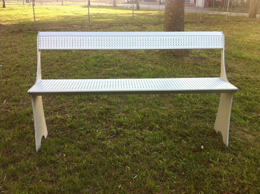 Recliner aluminium Bench with back PROEDRIA by ALUSCALAE