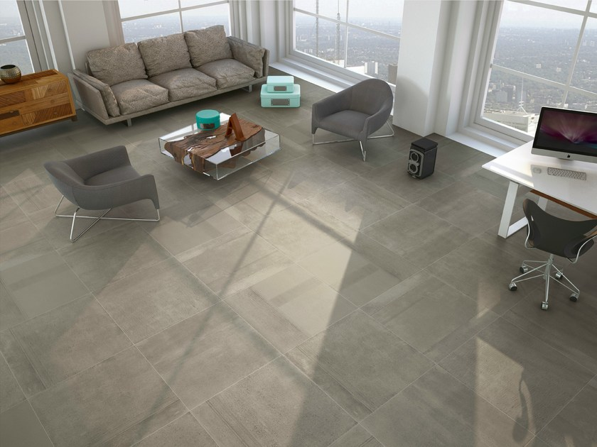 Porcelain stoneware flooring with concrete effect CREATIVE by APE CERAMICA