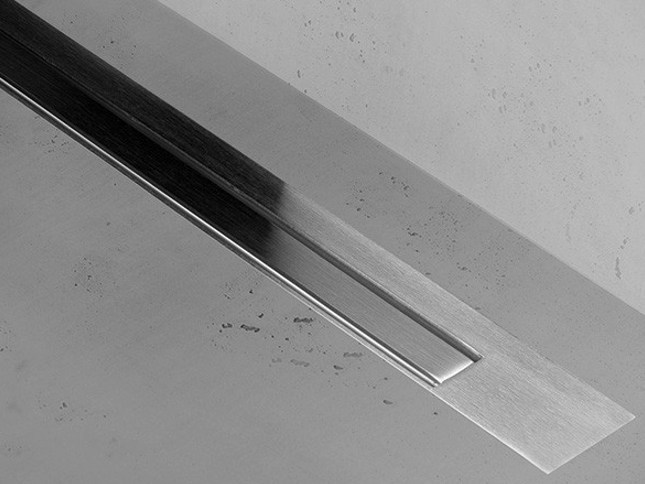 Shower channel XS Z-3 ZERO + BRUSHED STAINLESS STEEL - Easy Sanitary Solutions