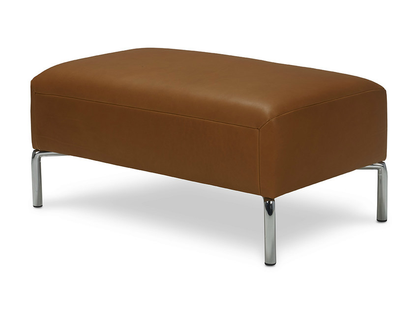 Leather footstool SIENNA | Leather footstool - Jori