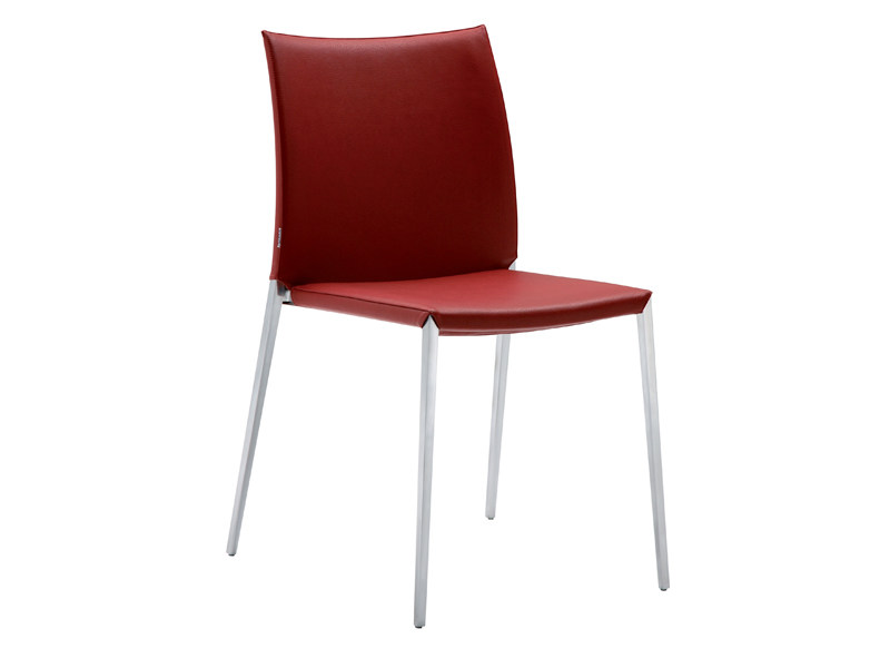 Stackable leather chair TALIA 2080 by Zanotta
