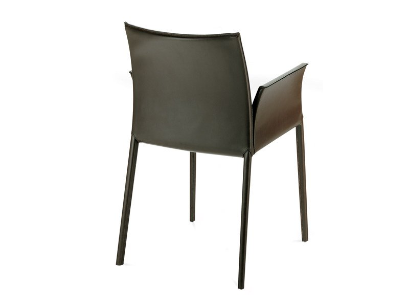 Leather chair with armrests LEA 2085 - Zanotta
