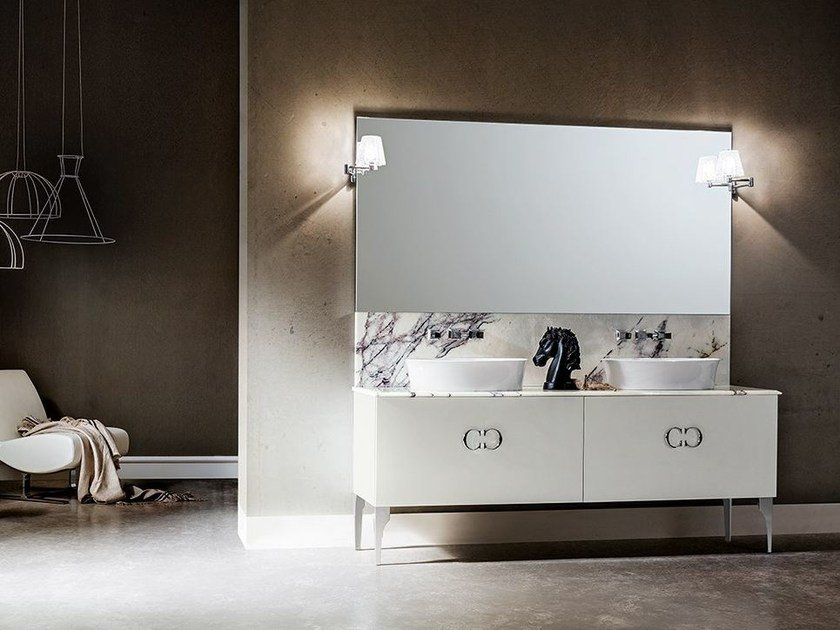 Lacquered vanity unit with drawers DECOR PLAY 102/103 - Cerasa