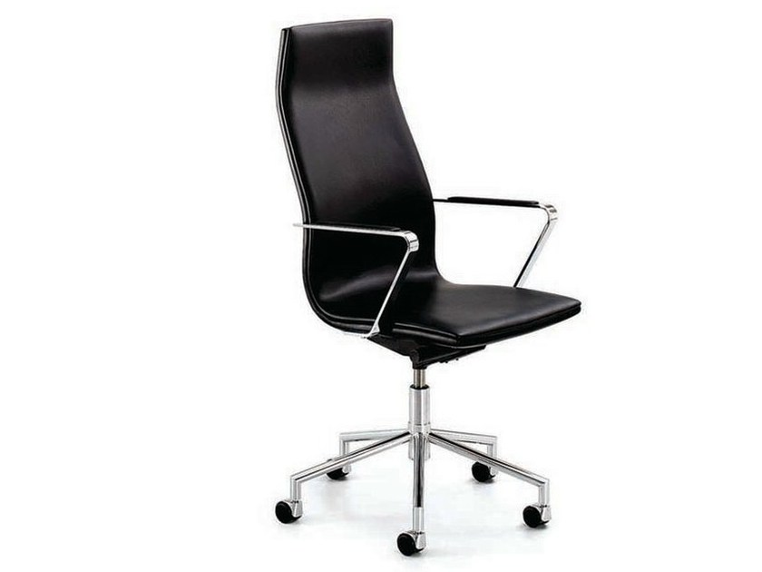 Swivel executive chair with armrests with casters .TALLIS | Executive chair - Spiegels