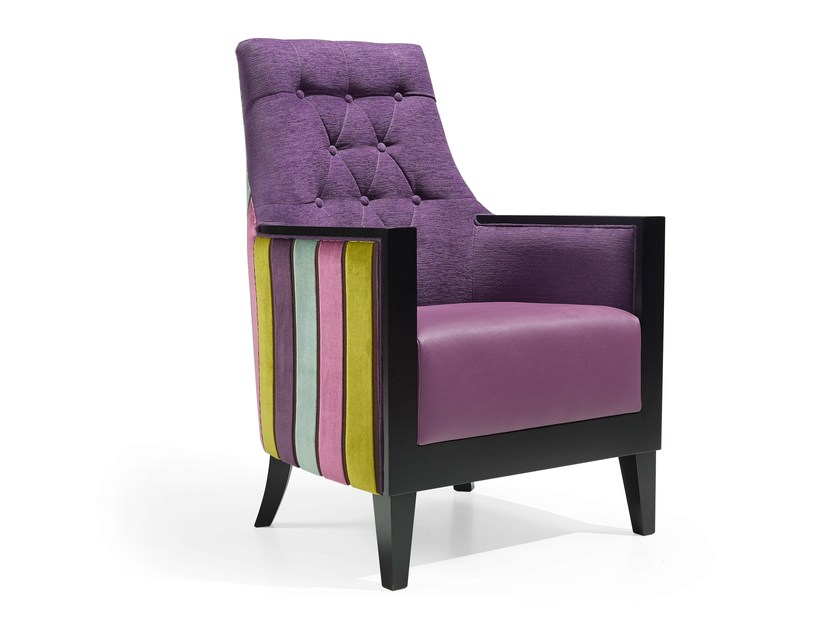 High-back armchair FLORIDA MAD by Fenabel
