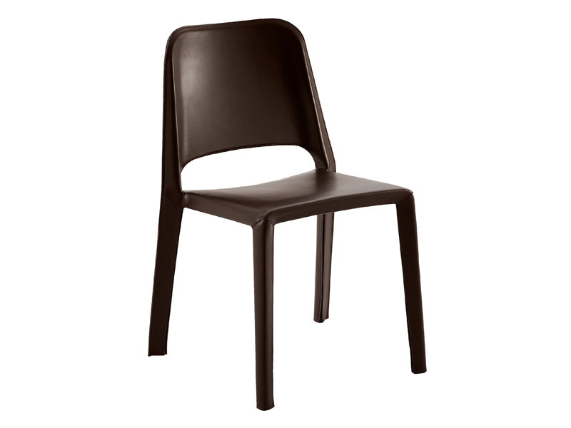 Stackable leather chair KATE 2089 by Zanotta