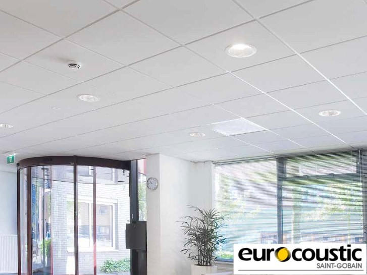Acoustic rock wool ceiling tiles Tonga® E - Saint-Gobain Gyproc