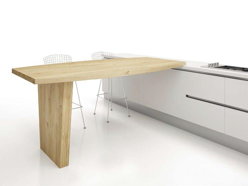 Tavolo a penisola alto da cucina GONDOLA by Domus Arte design ...