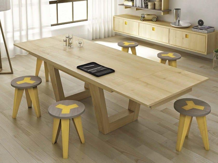 Extending oak table ACQUA - Domus Arte