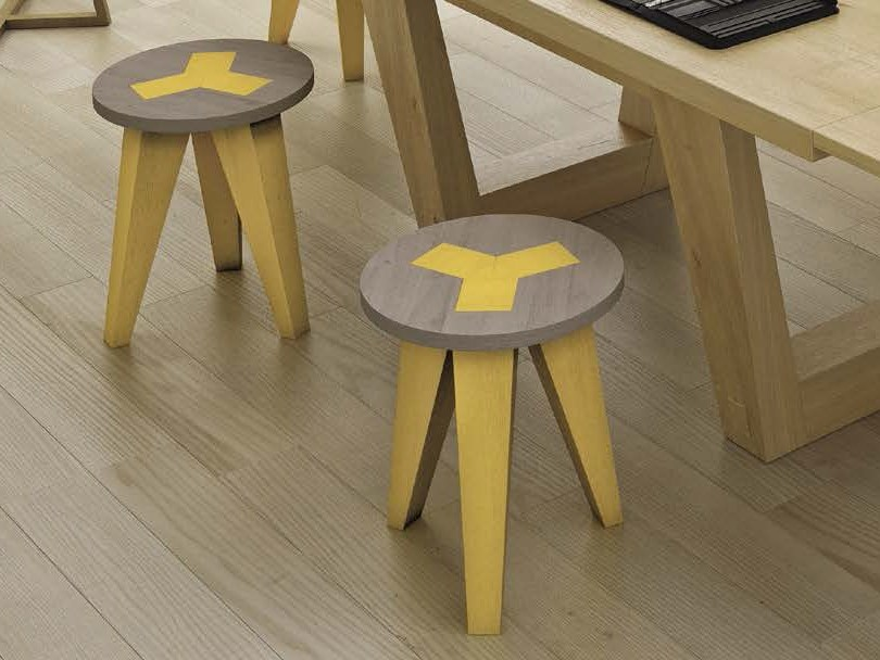 Oak stool / coffee table CAREJ - Domus Arte