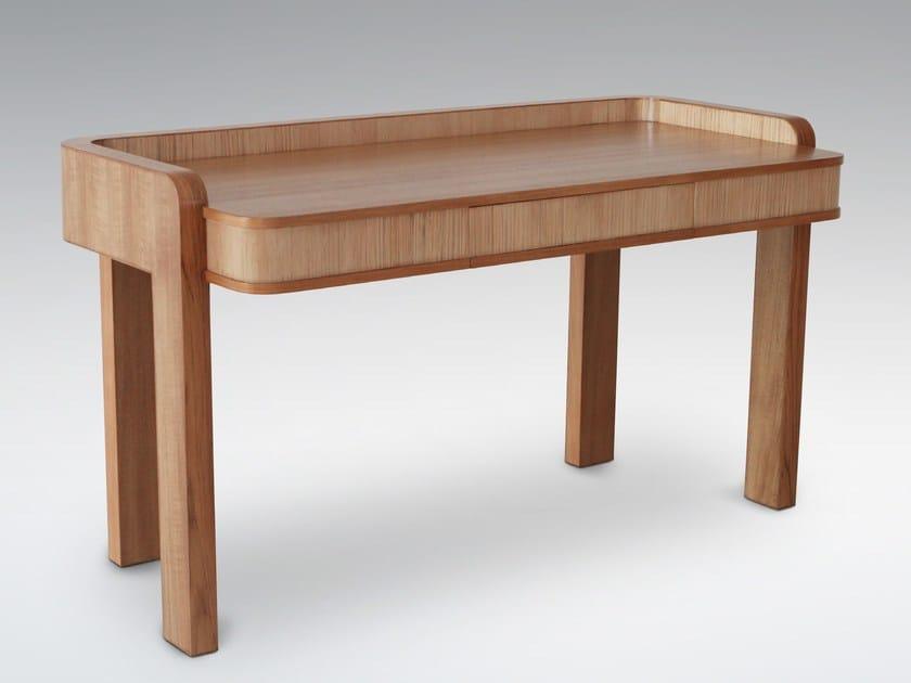 Rectangular wooden writing desk with drawers TEABU   Writing desk - WARISAN