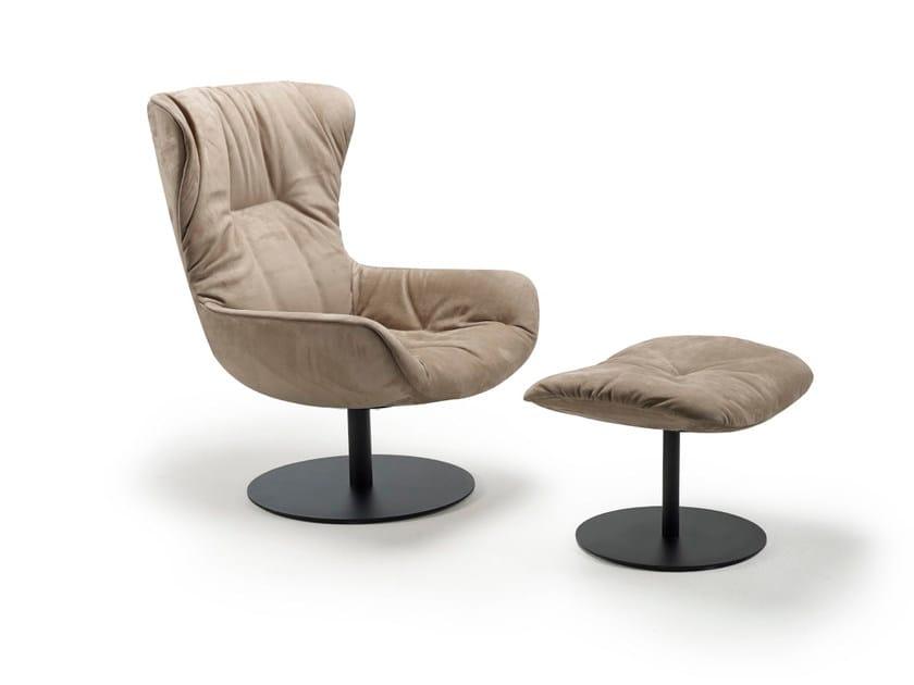 Upholstered leather armchair LEYA WINGBACK CHAIR | Armchair - FREIFRAU