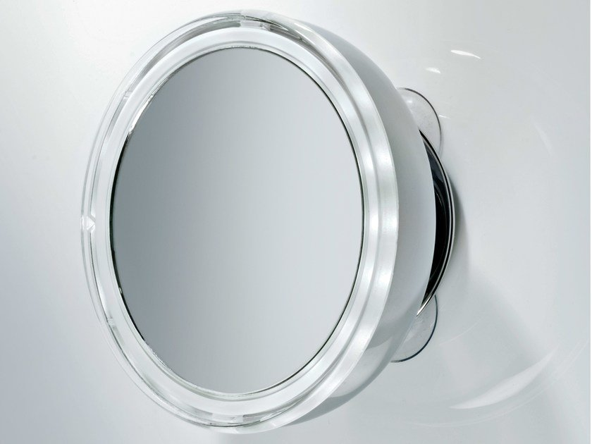 Round shaving mirror with integrated lighting BS 10 - DECOR WALTHER