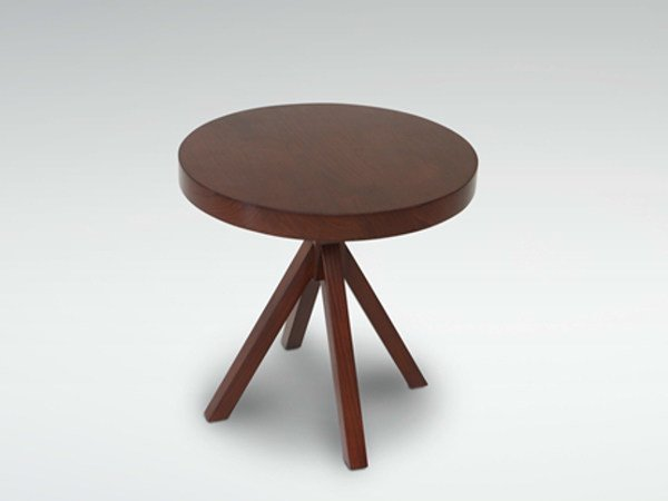Round wooden coffee table for living room JALAN | Coffee table - WARISAN