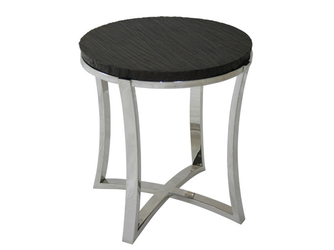 Round steel and wood coffee table for living room EDG - E | Steel and wood coffee table - WARISAN