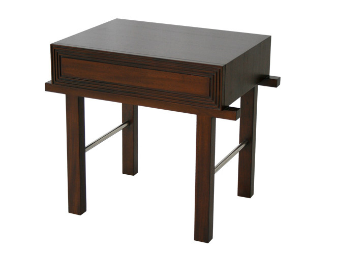 Rectangular wooden bedside table EDG - E | Bedside table by WARISAN