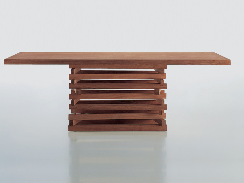 Rectangular wooden coffee table FALÒ SMALL | Wooden coffee table - Riva 1920