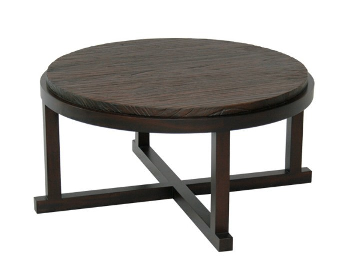 Round wooden coffee table for living room EDG - E | Round coffee table - WARISAN