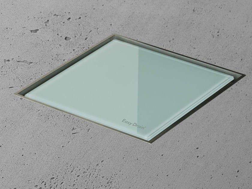 Shower drain AQUA JEWELS QUATTRO GREEN GLASS - Easy Sanitary Solutions
