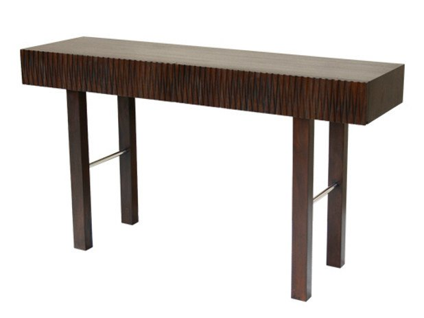 Rectangular wooden console table CUBULAR | Console table - WARISAN