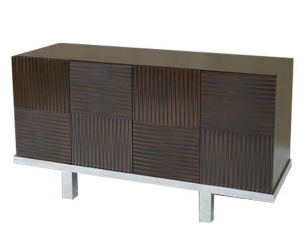 Wooden sideboard with doors CUBULAR | Sideboard - WARISAN